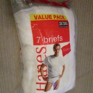 New Hanes Mens Briefs 7 Pack Sz 3XL SALE